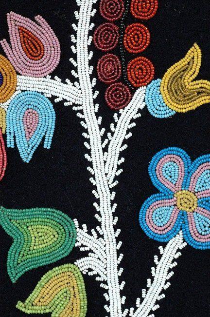 Ojibway Floral Beadwork 95 19th C Ojibway Beaded Vest