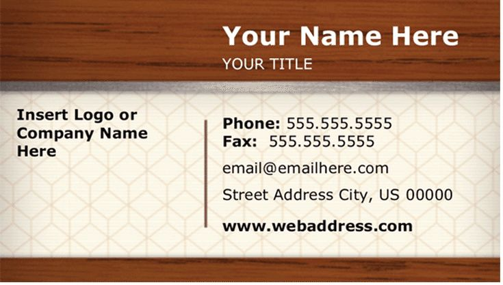 Hundreds of Free Business Card Templates for Microsoft Word: Microsoft's Free Business Card Templates