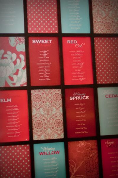 赤ベースのペーパーアイテムの参考に♡結婚式の赤い個性的な席次表のまとめ一覧♡