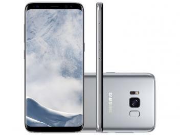 "Smartphone Samsung Galaxy S8 64GB Prata Dual Chip - 4G Câm. 12MP + Selfie 8MP Tela 5.8"" Quad HD"