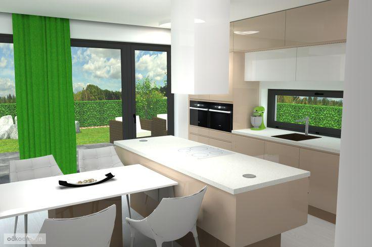 ..... ostrůvek s vařením orientovaným do obývacího pokoje (cappuccino, latté kitchen). www.ockodesign.cz