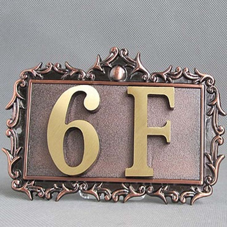 customized two digits contemporary decorative copper brass house numbers #CLICK! #clothing, #shoes, #jewelry, #women, #men, #hats, #watches