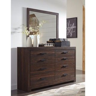 Shop for Signature Design by Ashley Arkaline Brown Dresser with Mirror. Get free shipping at Overstock.com - Your Online Furniture Outlet Store! Get 5% in rewards with Club O!
