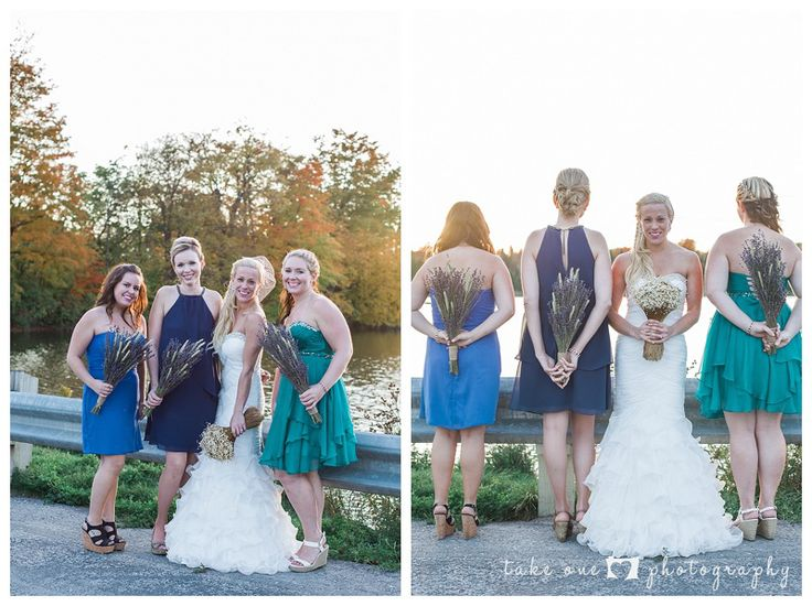 bride and bridesmaids - groom preparation - love portraits - bridal party - rustic wedding - take 1 photography