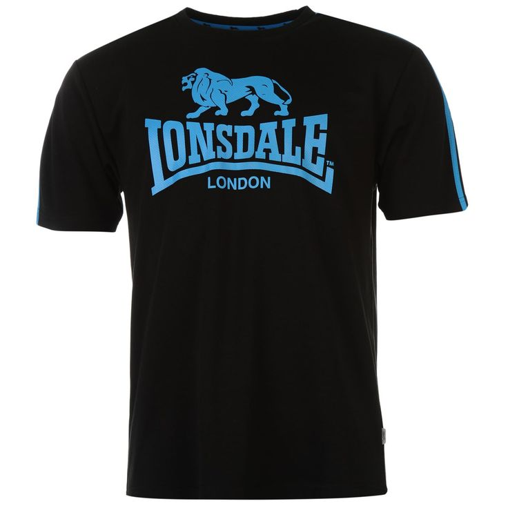 Lonsdale | Lonsdale Two Stripe Large Logo T-Shirt Mens | Mens T-Shirts
