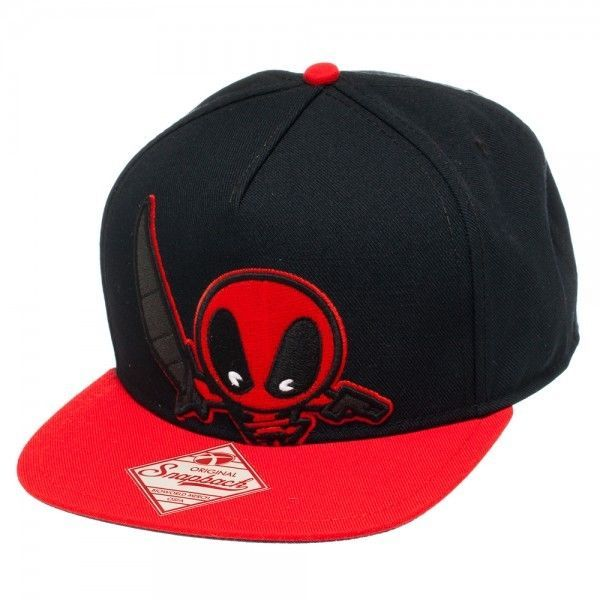 New Deadpool Kawaii Black Snapback Hat #Marvel #BaseballCap #deadpool #kawaii