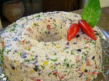 Mousse de Frango Super Colorido - Veja mais em: http://www.cybercook.com.br/receita-de-mousse-de-frango-super-colorido.html?codigo=113063