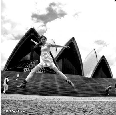 Coco Rocha photo shoot at Sydney Opera House