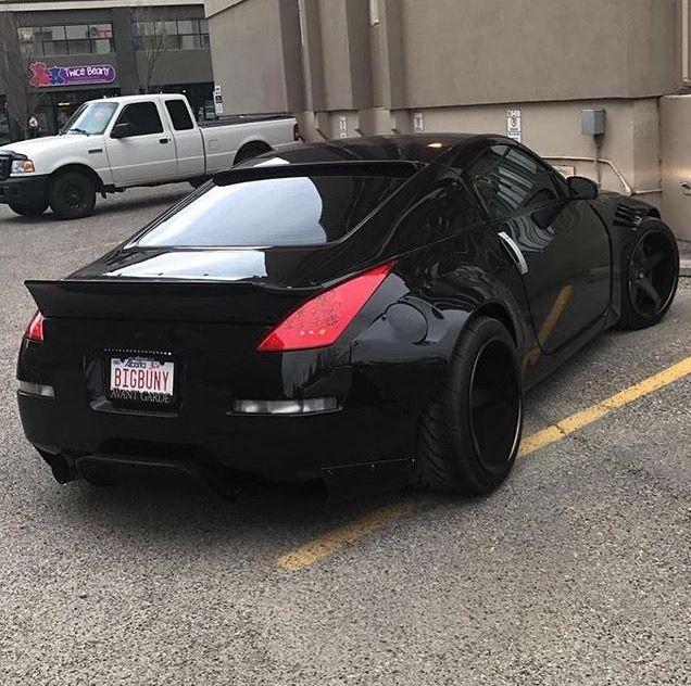#Nissan #350z #Modified #BlackOnBlack #WideBody