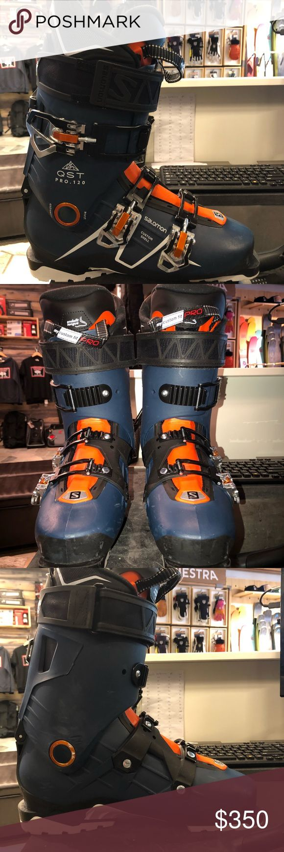 Men's Salomon QST 120 Ski Boot 27.5 Freeride boot, 120 flex, walk mode for out of ski, lightweight boot for intermediate to advanced skiers! Salomon Shoes Winter & Rain Boots