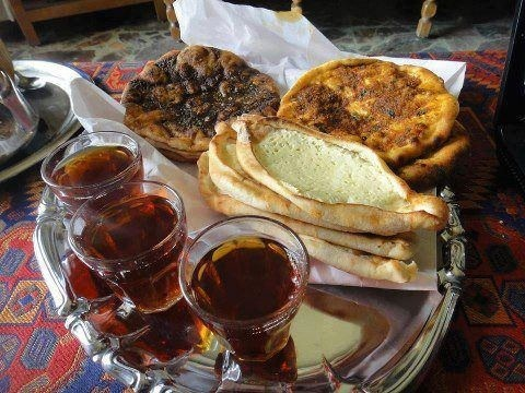 46 best syrian food dishes images on pinterest arabian food another traditional syrian breakfast manakish fatayer with tea middle eastern recipesoriental foodarabic forumfinder