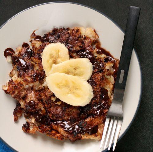 Dark Chocolate Banana Matzo Brei. For next Passover.: Recipe, Chocolate Bananas, Bananas Matzoh, Dark Chocolates, Bananas Matzah, Matzoh Brei, Matzah Brei, Chocolates Bananas, Matzo Brei