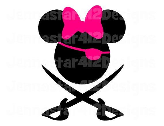 Disney Inspired Minnie Pirate Swords Diy Printable Iron On Transfer Digital File Disney