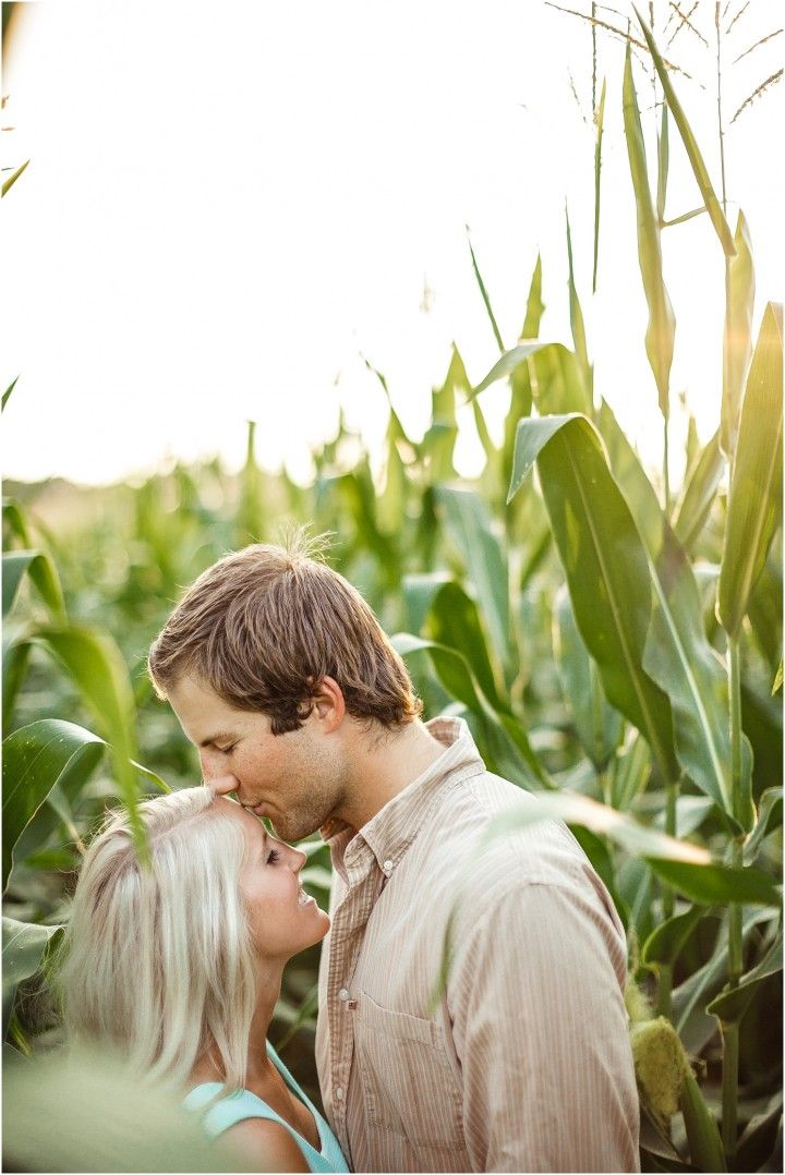 Farm engagement photos in a corn field - love the south! Click to view more photos! (pic by JoPhoto) #weddingphotographer #engagement Tennessee photographer, engagement pictures, JoPhoto