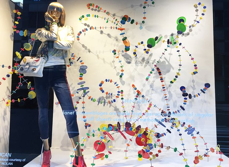 """BLOOMINGDALES,59th Street, New York, """"Shine Pops"""", creative by Janet Nolan, photo by Stylecurated, pinned by Ton van der Veer"""