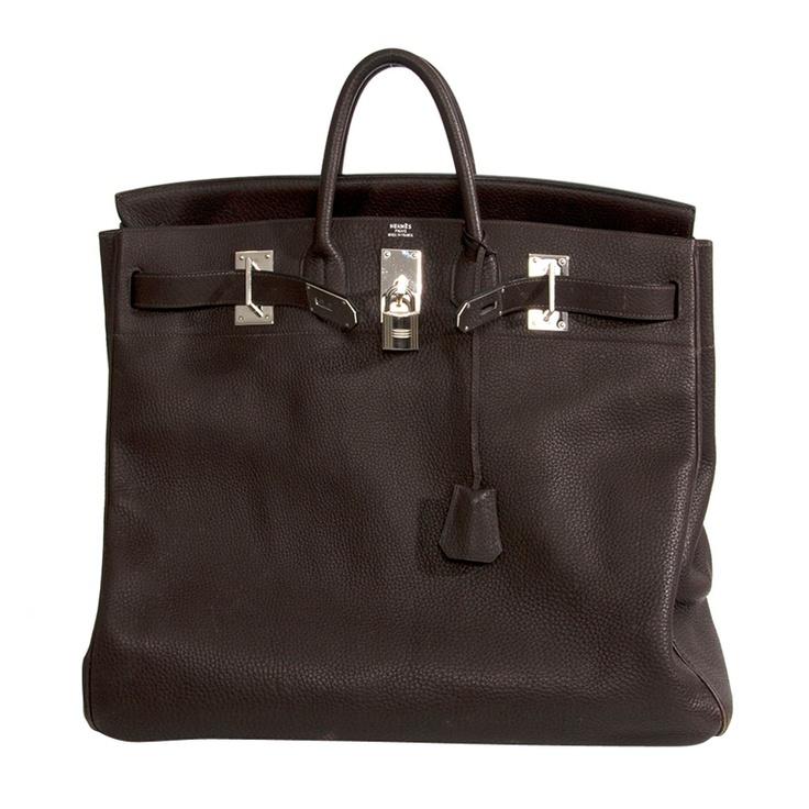 Rare Hermes Haut A Courroie (HAC) 5 Birkin Handbag Coffee ...