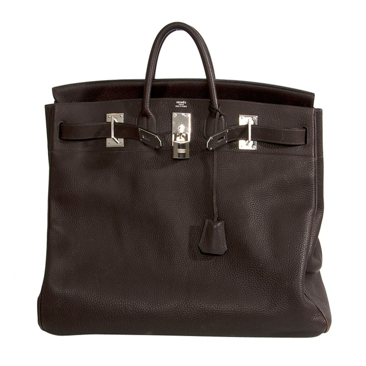 what is the price of a hermes birkin bag - Rare Hermes Haut A Courroie (HAC) 5 Birkin Handbag Coffee Brown