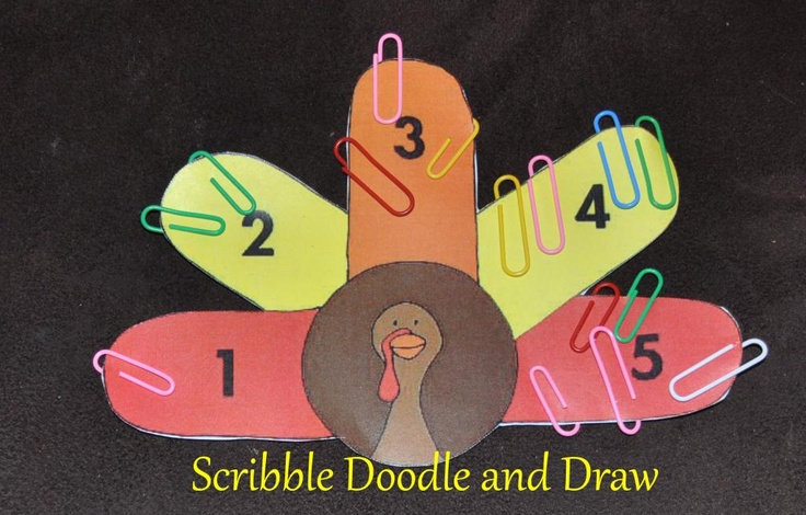Practice math and fine motor skills with this fun turkey.  Scribble Doodle and Draw