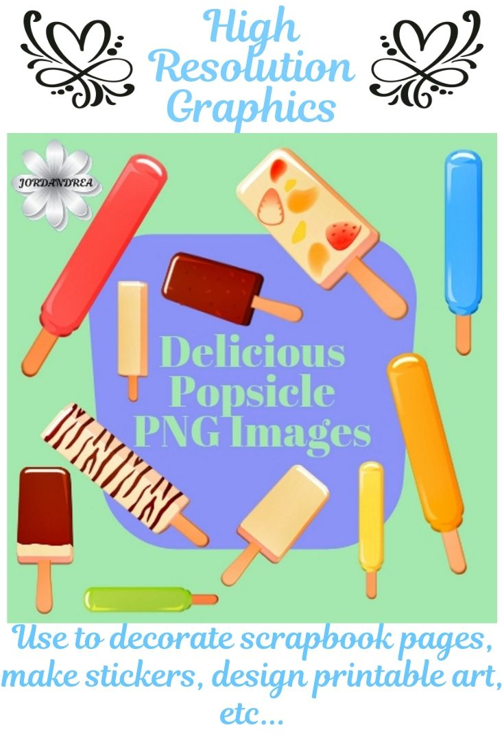 Delicious Popsicle Png Image Clipart Set With Unlimited Etsy Clip Art Png Images Image