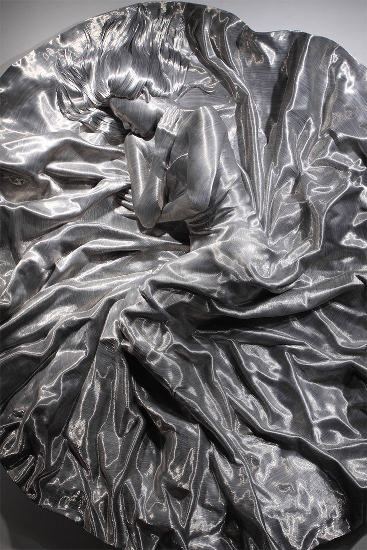 These wire sculptures actually look like people frozen in carbonite