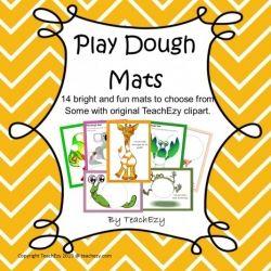 Play Dough Mats - Preschool/Kindergarten: 14 mats
