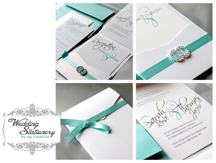 Modern, Pocket Fold Wedding Invitation By Ag Creative   Me!