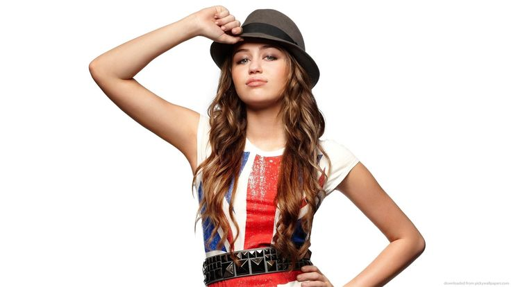 Miley Cyrus Great Britain Flag T-Shirt for 1600x900