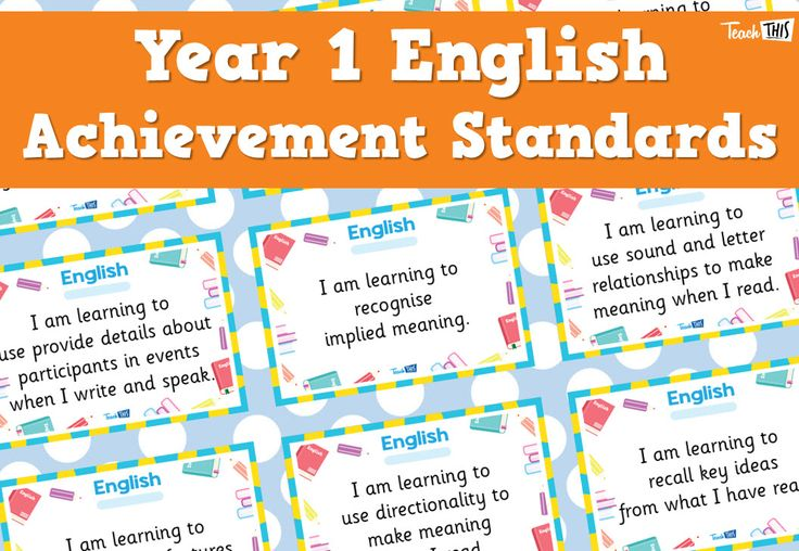 English Achievement Standards - Yr1
