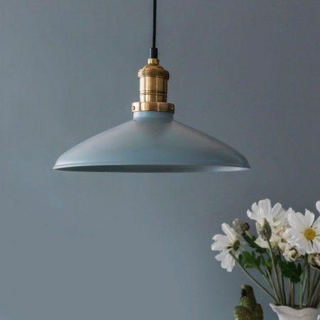 Saucer Pendant Blue Grey - Lamp Shades - Lighting Accessories - Lighting & Mirrors