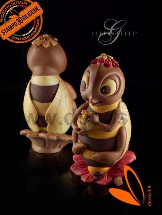 Molde de abeja para chocolate, molde de huevo de Pascua, molde Pascua 3D en silicone