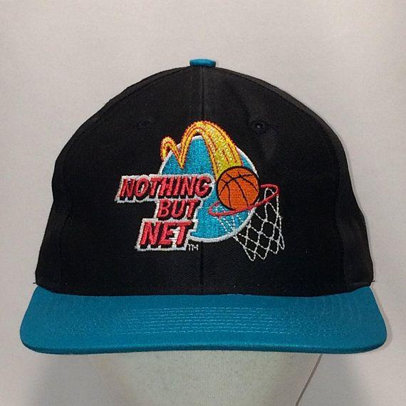 Vintage Snapback Hats McDonalds Hat Retro Baseball Cap Larry Bird Michael  Jordan Nothing But Net Basketball Dad Gift Hats For Men T37 MA8095 78e0ec4fb79