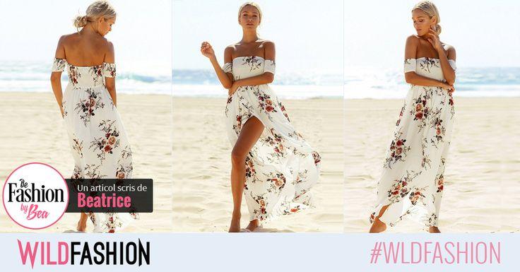 Vara se poarta albul si print-ul floral! Aceasta rochie e perfecta pentru tine!