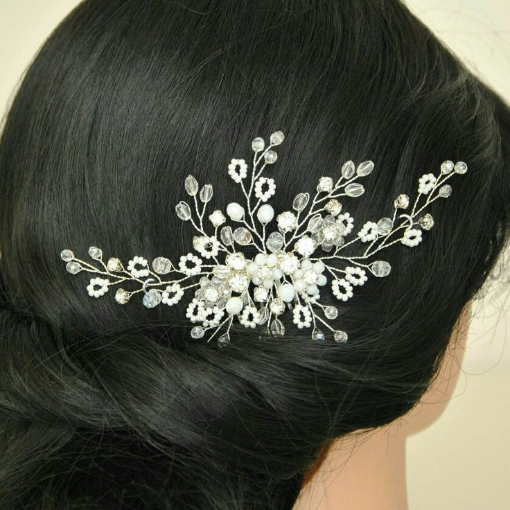 Excited to share the latest addition to my #etsy shop: Bridal headpiece Wedding hair piece Winter Silver hair comb Crystal hair brooch Babys breath hair accessory Hair garland Vigne cheveux Halo #bridalhaircomb #bridalheadpiece #bridalhairpiece #babysbreathhair #weddinghaircomb #bridalhairpiece #weddinghair #bridalhairstylist http://etsy.me/2zKdGtL