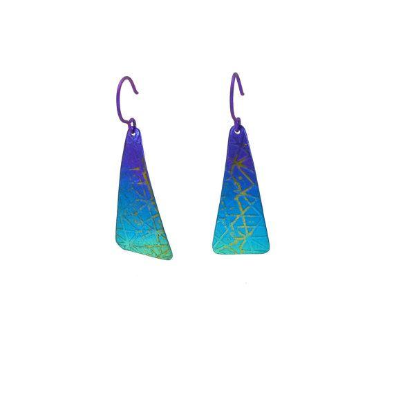 Triangle Earrings,Titanium Dangle Earrings, Geometric Earrings, Fashion Earrings, Modern Earrings, Long Earrings, Titanium Earrings