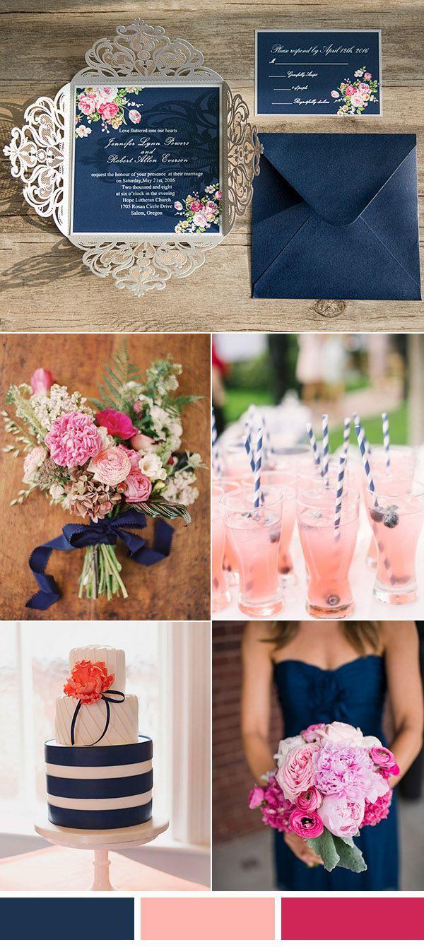 Azul turquí con fucsia como paleta de colores para boda. #BodaAzul »  Origami Ideen 2019-2020