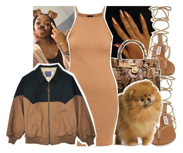 """""""Untitled #1069"""" by chynelledreamz ❤ liked on Polyvore featuring Steve Madden and Michael Kors"""