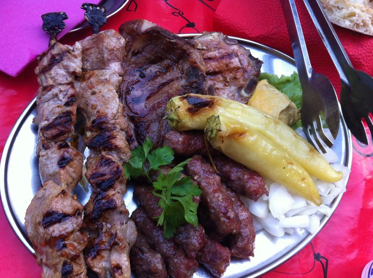 Delicious meat at Galatasaray in Sarajevo Place of Tarik Hodzic...