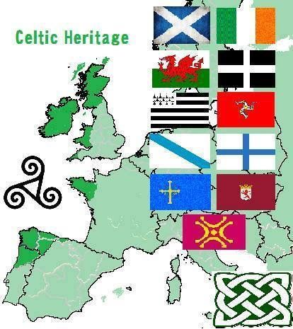 The Celtic nations today: Scotland, Ireland, Wales, Mann, Cornwall, Brittany & Galicia