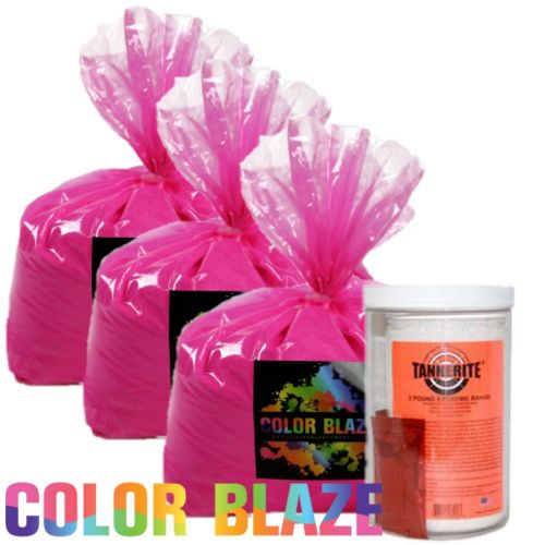 Planning an explosion of color for your gender reveal with Tannerite? Our Tannerite Gender Reveal Kit includes 15lbs of color powder and 2lbs of Tannerite.