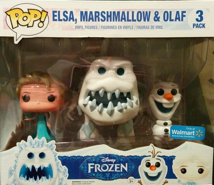 Rare Funko POP!  3 Pack Walmart Exclusive. Disney Frozen - Elsa Olaf Marshmallow http://www.ebay.com/itm/Rare-Funko-POP-3-Pack-Walmart-Exclusive-Disney-Frozen-Elsa-Olaf-Marshmallow-/301426859465?pt=LH_DefaultDomain_0&hash=item462e70ddc9