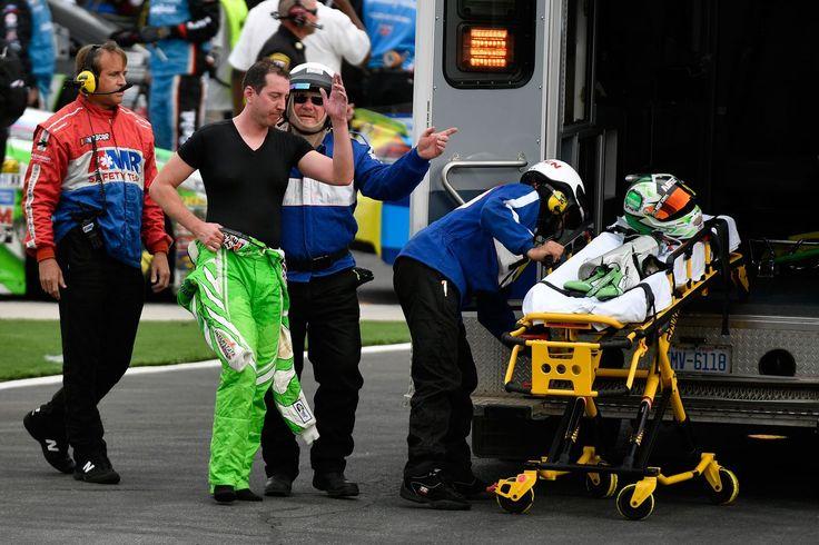 Kyle Busch necesidades de atención médica después de una carrera de NASCAR en Charlotte
