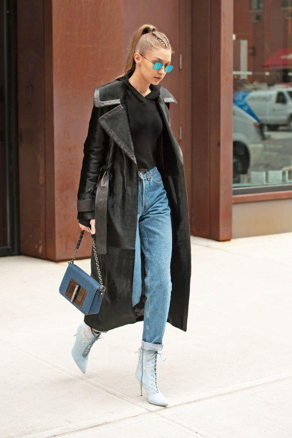 Gigi Hadid rocks the straight leg jean look - here's how to cop it.