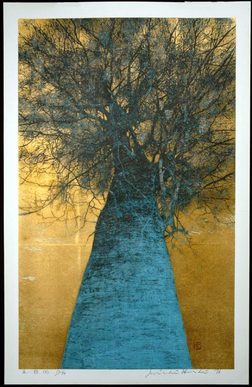 Hoshi Joichi (1913-1979) High Treetop - woodblock print.