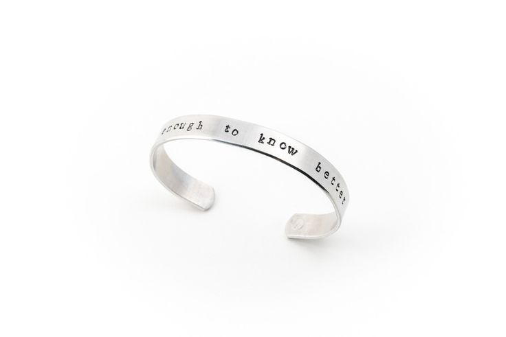 "Image of ""old enough to know better"" Bracelet 154"
