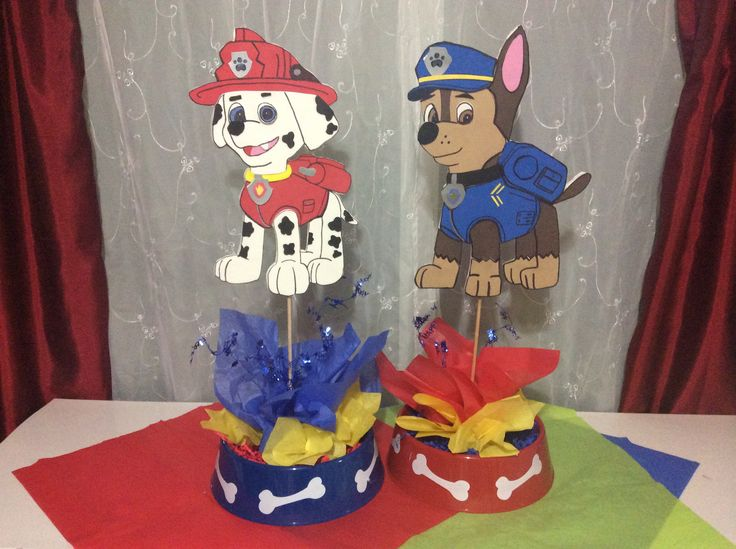 Paw patrol centerpieces need these paw patrol - Mesa cumpleanos patrulla canina ...
