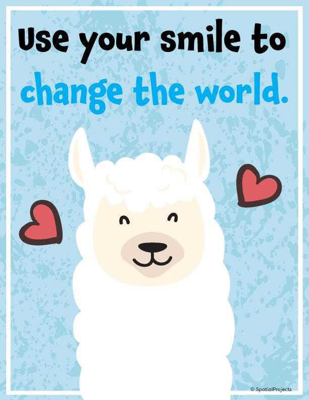 Llama Classroom Decor – Posters for Again to College Bulletin Boards