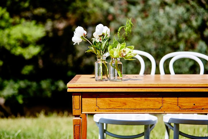 LETTUCE & CO - STYLE. EAT. PLAY 'viv + lachy - colourful modern art deco'. outdoor wedding @ collingwood children's farm. ceremony signing table. concept, design and wedding styling by lettuce & co
