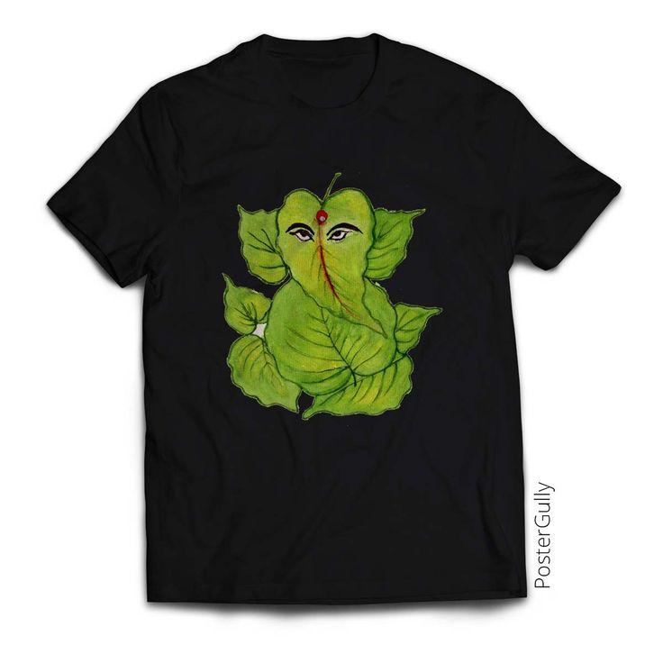 Leaf Ganesha T-Shirt #tshirt #tshirts #clothing #fashion #ganesha #tees #ganeshadesign #spiritual #apparel