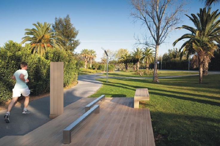Underused median strip turned into circuit fitness route and recreational park in #Vilamoura   #Portugal. Click on the image to see the full project on www.shapedscape.com the NEW Platform for Landscape Architecture and related industries.