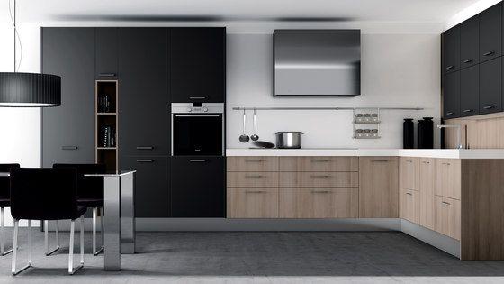 Cocinas integrales sistemas de cocina 2000 nogal gris - Cocinas color nogal ...